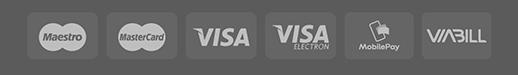 Maestro - Mastercard - Visa - Visa Electron - MobilePay - ViaBill hos Zaya
